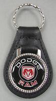 Vintage Black Dodge Ram Black Leather Usa Keyring 1932 1933 1934 1935 1936 1937