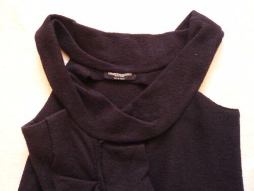 New Saints Peekoa cotta lana Frill All Uk 10 Trim senza nera Dress maniche in W Cw54Eppdq