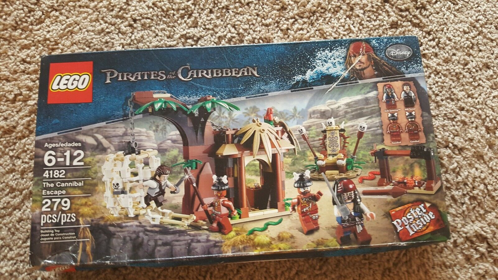 LEGO  Pirates Of The autoibbean Cannibal Escape  4182 (scatola SLIGHTLY DAMAGED)  acquistare ora