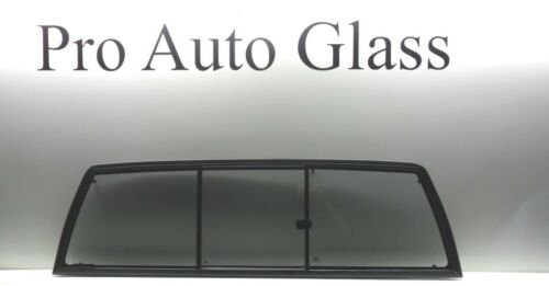 FITS 1998-2004 FRONTIER SLIDER REAR WINDOW SLIDING BACK GLASS GRAY TINTED NEW