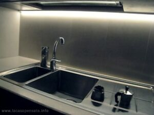 Barra Led Sottopensile Cucina Dimmerabile Su Misura luce calda ...