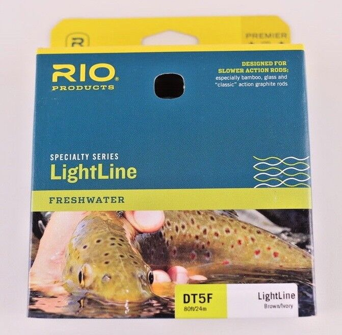 Rio LightLine Fly Line DT5F Brown Ivory FREE FAST SHIPPING 6-20486