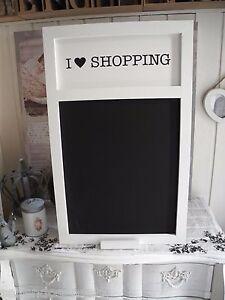 xl 34x50 gro wei kreidetafel schreibtafel tafel holz shabby chic love shopping ebay. Black Bedroom Furniture Sets. Home Design Ideas