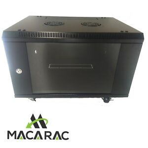 6U-450-Deep-19-034-Rack-System-Wall-Mount-Network-Cabinet-Provision-for-2-Fans