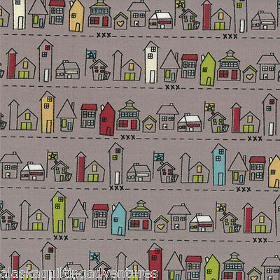 MODA Fabric ~ ROAD 15 ~ by Sweetwater (5522 16) Main Street/Mist - by 1/2 yd