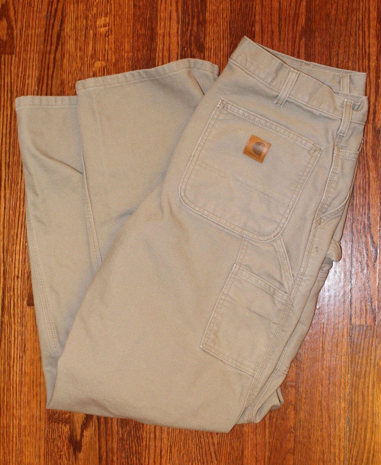 Carhartt Original Dungaree Fit Canvas Work Pants Men's 34  x 34  - B11 DES