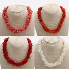 Collar de Coral Auténtico rojo, rosa o blanco