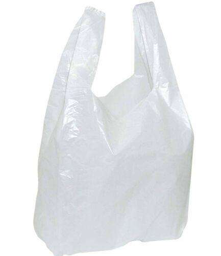 25x12x45 cm Cornet Blanc Sac Sacs En Plastique T-shirt Sacs À Provisions Markt
