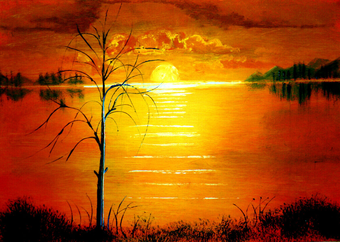 3D Sunset Paint 54 Wallpaper Murals Wall Print Wallpaper Mural AJ WALL AU Summer
