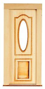 Dollhouse Miniature Exterior Door With Pet Door 1 12 Scale Ebay