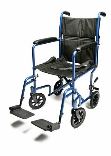 Everest & Jennings Aluminum Transport Chair with 5-Inch Swivel Casters, 19-Inc..