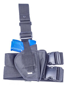 Details about Springfield XD Sub Compact 9 40 45   Nylon Tactical Drop Leg  Holster w Mag Pouch