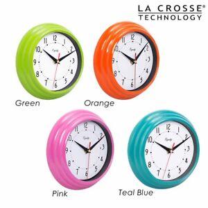 Details About Vintage Retro Wall Clock Home Decor Kitchen Room Green Pink Blue Orange Quartz