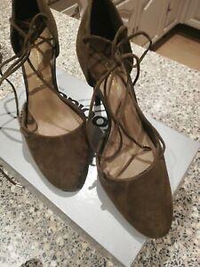 Autograph Khaki suede heels size 5   eBay