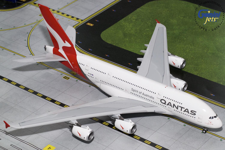 Qantas Airbus A380 VH-OQF Gemini jets G2QFA748 échelle 1 200