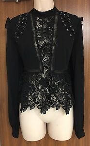 lace Detail Top Guipure Self us portrait Uk8 Size 4 Lace xInnqX74w1