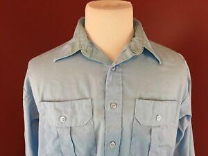 68af7cf24 HPI Signature Collection Vintage Work Shirt Mens 16.5-32 33 made USA ...