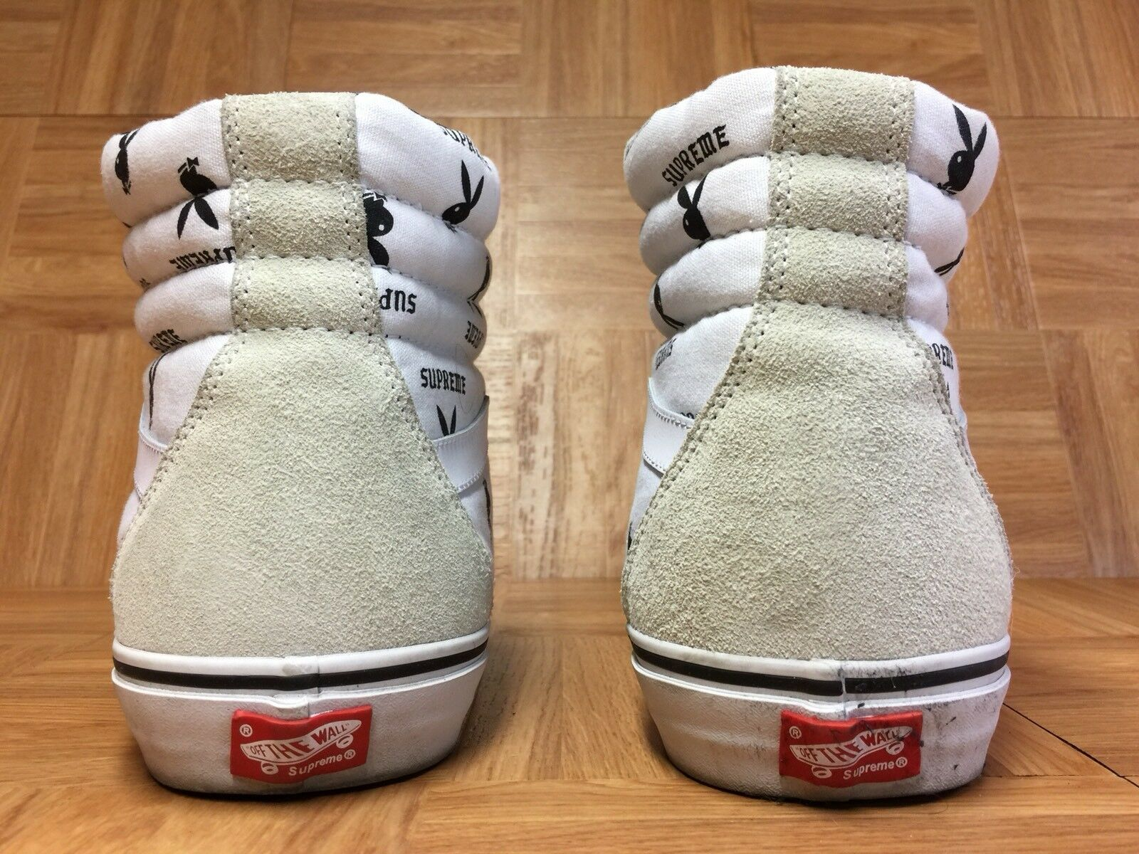 RARE VANS x Supreme x x x Playboy Sk8-Hi bianca Uomo Dimensione 13 scarpe Vintage Cool bf6d7a