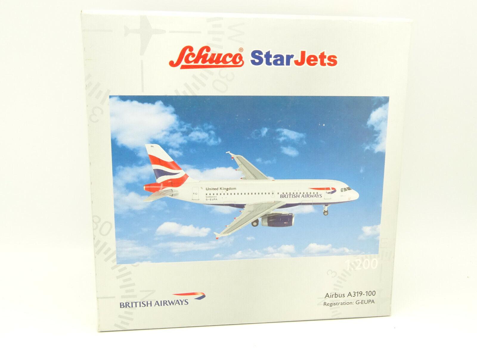Schuco STAR JETS 1 200 - Air Airbus a319 100 british airways