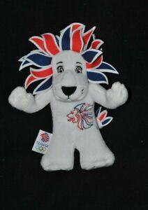 Peluche-doudou-mascotte-officielle-du-team-GB-Londres-2012-lion-23-cm-NEUF