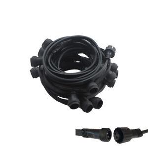 Illu-Lichterkette-Komplettset-10m-30-Fassungen-E27-fertig-montiert-verlaengerbar