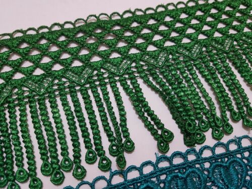 1 Yard Beautiful embroidered Crochet Dangling lace trimming Curtain dress Fashio