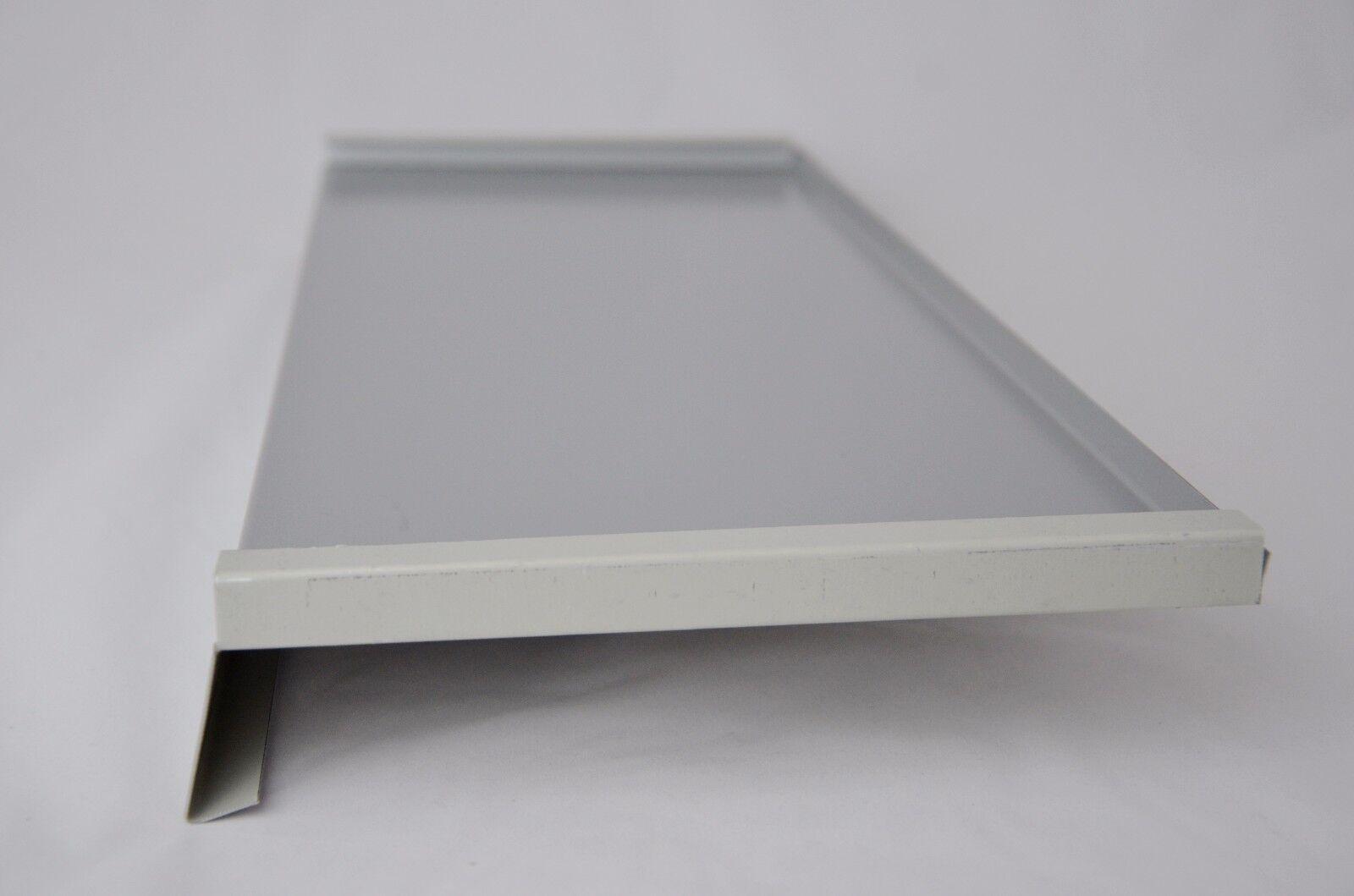 Aluminium Fensterbank; Seiten doppelt gekantet; Silber RAL 9006 ...