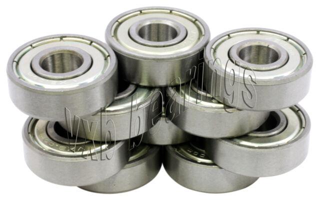 Lot of 10 Radial Ball Bearings 8x16 Shielded 8x16x4 VXB