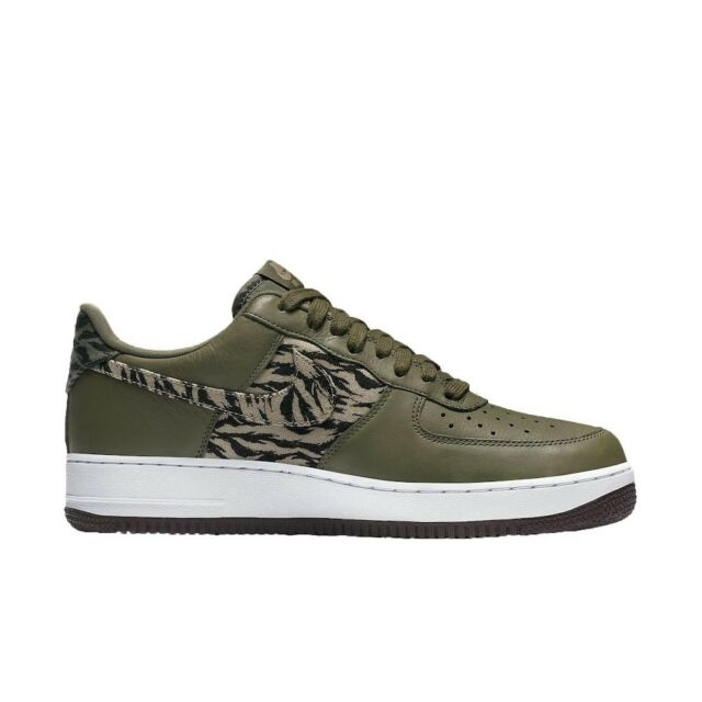Nike Air Force 1 AOP Premium Tiger Camo Mens Aq4131 200 Olive Shoes Size 11.5