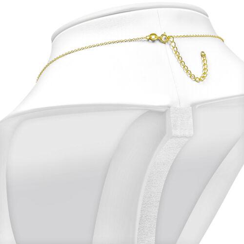 925 Sterling Argent Mauvais Oeil-jaune gold tone Femme Collier Pendentif