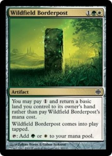 Wildfield Borderpost LP x4 Alara Reborn   MTG Magic Cards Gold Common