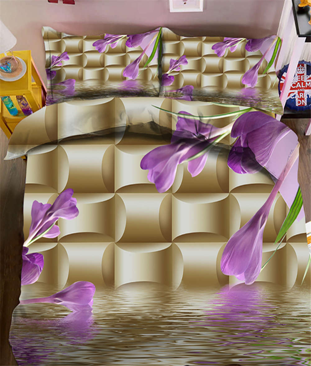 Melting Diamonds 3D Printing Duvet Quilt Doona Covers Pillow Case Bedding Sets