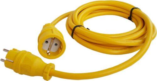 Cable alargador cables de alimentación prórroga cable n07v3v3-f 15m 3x1,5 mm en amarillo yl