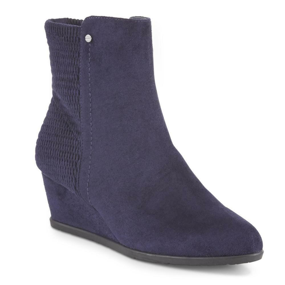 Laura Scott Women's Emerson Ankle Bootie - Navy size 5.5M BRAND NEW