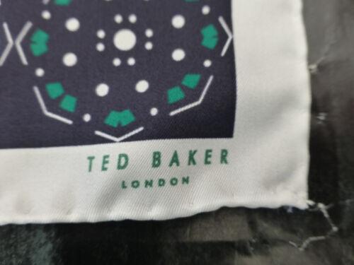 TED BAKER Pocket Square ANTPOC Silk Hankie TILE Navy Handkerchief BNWT R£29