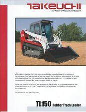 Equipment Data Sheet Takeuchi Tl150 Rubber Track Loader 2007 E5892