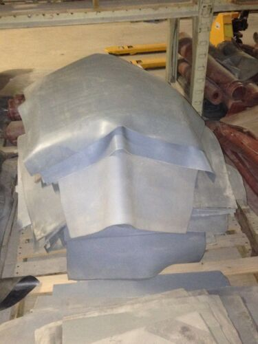"""High Temp FDA 12/"""" x 12/"""" Gray Silicone Rubber Sheet 1//32/"""" thick 50 durometer"""