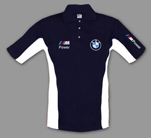 Neu Bmw M Power Herren Polo Shirt Mit Gestickte Logos Blau S 3xl