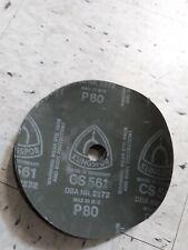 5 New Klingspor 5 X 78 Abrasive Sanding Discs P80 Grit Cs561 Made In Germany
