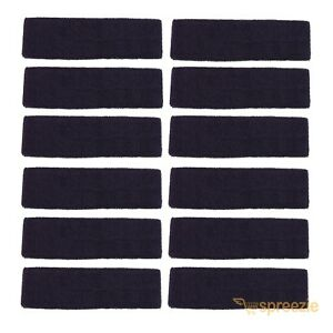 LOT OF 100 WHITE HEAD BAND SWEATBAND SPORT GYM WRAP TERRY CLOTH TOWEL EXERCISE Sporting Goods