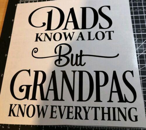 Grandpa dad christmas love vinyl decal sticker diy gift craft wine bottle candle