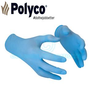 Polyco 10 X-Large BG Blue Nitrile Gloves *FULL BOX OF 100 GLOVES*