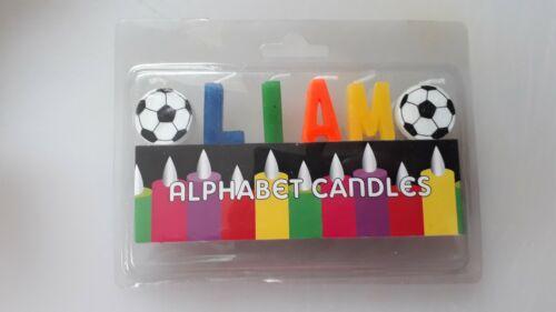 Liam Alphabet name Birthday Candle football