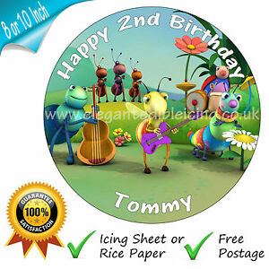 Big Bugs Band Birthday Cake Topper Edible Personalised Baby Tv Party