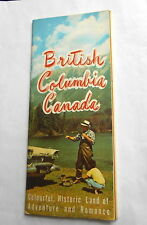 Vintage British Columbia Canada Land of Adverture Romance Travel Guide Brochure