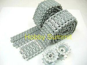 1-16-M26-PERSHING-METAL-TRACKS-T-81-amp-Sprockets-Tamiya-56016-Heng-Long