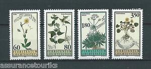LIECHTENSTEIN-1995-YT-1057-a-1060-TIMBRES-NEUFS-LUXE