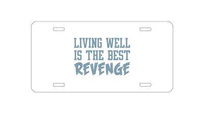 License Plate Frame Success Is The Best Revenge Style 2 Zinc Chrome