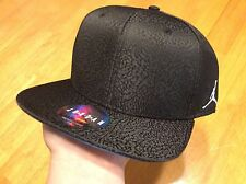 Nike Jordan Snapback Hat Retro 3 Cement Elephant Black 802029 010 True Blue OG
