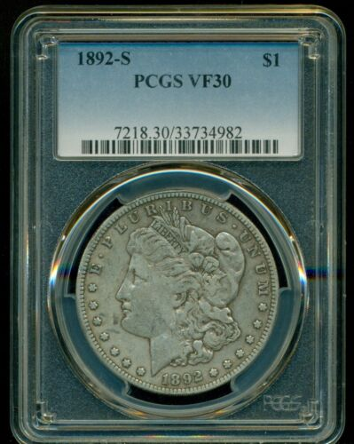 1892S MORGAN DOLLAR PCGS VF30